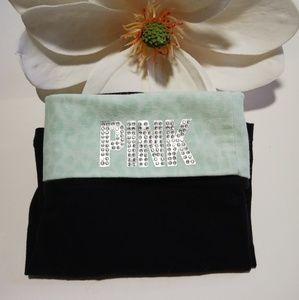 PINK Victoria's Secret- Fold Over Yoga Shorts
